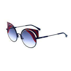 Fendi FF0215/S OM1 MTDK BLUE Cat-Eye Sunglasses